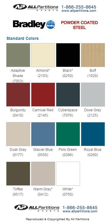 Toilet Partitions Color Chart