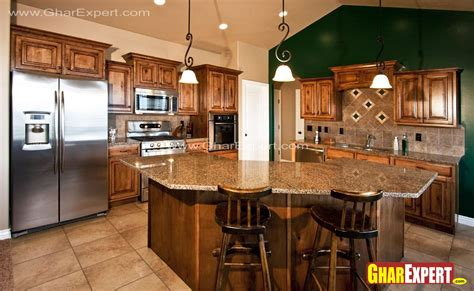 kitchen bar counter brown kitchen bar counter with granite top gharexpert