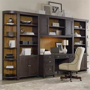 Hooker furniture south park home office wall unit with for Home office desk units