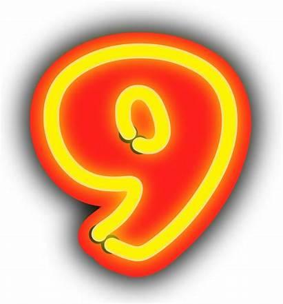 Neon Numerals Clip Clipart Svg Sign Onlinelabels