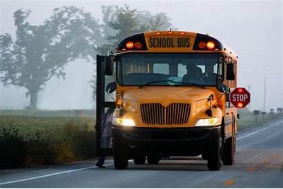 Bus Wallpapers Flashing Lights Stop Morning Buses