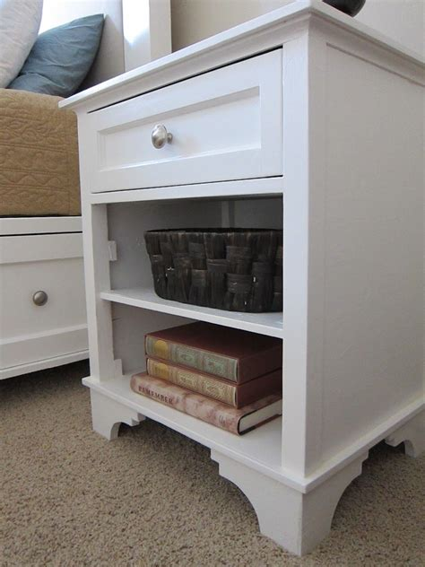 diy nightstand woodworking plans full instructions