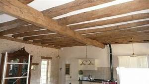 Comment Renover Un Plafond : faux plafond entre poutres apparentes isolation id es ~ Dailycaller-alerts.com Idées de Décoration