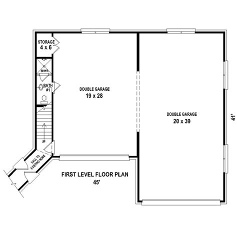 garage with living quarters floor plans garage plan 44914 at familyhomeplans