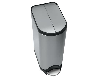poubelle de cuisine 30 litres poubelle à pédale deluxe butterfly 30 litres acier 30