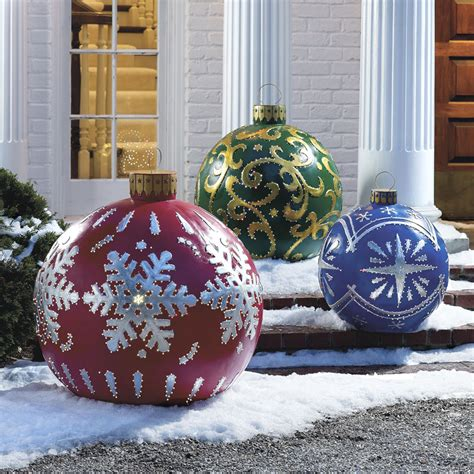 outdoor lighted christmas ornaments massive outdoor lighted christmas ornaments the green head