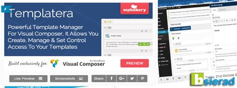 visual composer templates templatera template manager for visual composer v1 1 3 bsierad