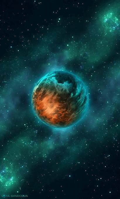 Galaxy Planet Planets Galaxie Shvecova Burning Space