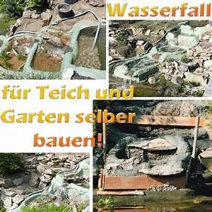 Wasserfall Selber Bauen : wasserfall f r teich und garten selber bauen mit bauanleitung ~ Michelbontemps.com Haus und Dekorationen