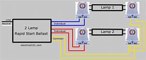 One Two Light Ballast Wiring Diagram