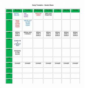 homework schedule templates 13 free word excel pdf With roster timetable template