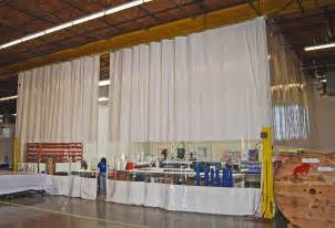 industrial curtain panel enclosures roller track systems