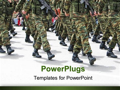 army powerpoint template powerpoint template parade background depicting soldiers marching in army parade 26776