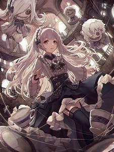Wallpaper, Anime, Girls, Original, Characters, Gothic, Lolita, 2000x2667, -, Heroix, -, 1553893