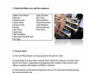 Movie Worksheet: Top 10 Iconic Instrumental Film Scores