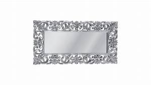 Miroir Baroque Argenté : achetez votre miroir design italien baroque argent 180x90 pas cher ~ Teatrodelosmanantiales.com Idées de Décoration