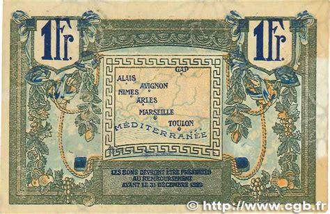chambre de commerce de nimes 1 franc régionalisme et divers alais arles
