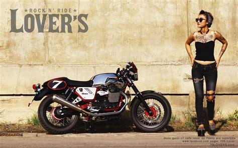 Pin Up Girl To Moto Guzzi V7 Form 70s Lover Thailand