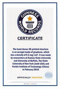 Certificate Of Accomplishment Video Scientists Break World Record With 3 D Printed