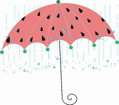 Clipart Umbrella Drink Rain Cartoon Spring Splash