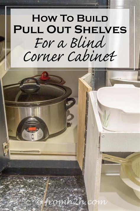 corner kitchen cabinet storage ideas how to build pull out shelves for a blind corner cabinet