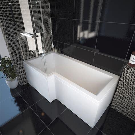 Buy Shower Bath by Laguna L Shape Shower Bath Left Handed Buy At