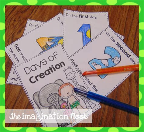 days of creation booklet christian education preschool 180 | cab28ade34839f2d0991ea53e684bd89