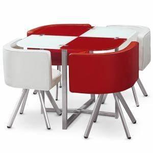 Table Chaise Encastrable : table 4 chaises encastrables comparer 37 offres ~ Teatrodelosmanantiales.com Idées de Décoration