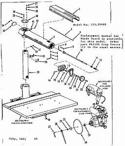 Craftsman Model 11329460 Saw Radial Genuine Parts
