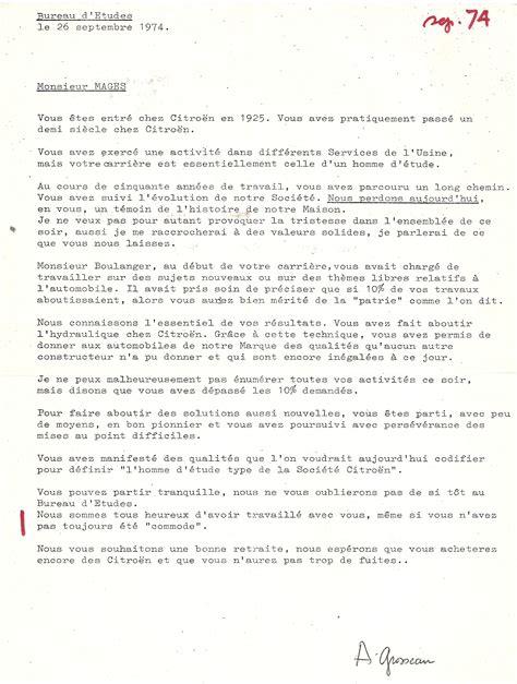 pot depart retraite discours discours pour pot de depart en retraite 28 images 1974 lettre de monsieur meignan 224 paul