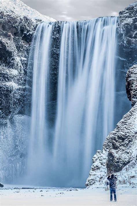 Wallpaper Iphone 7 Water Fall by Frozen Waterfall Iphone Wallpaper Hd