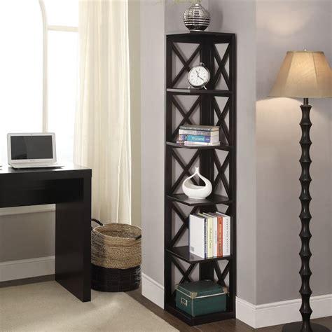 Corner Black Bookcase by 5 Shelf Corner Bookcase In Black 203080bl