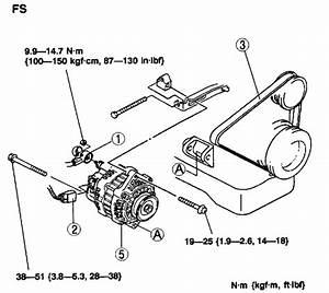 How Do You Put On An Alternator Belt For Mazda 626