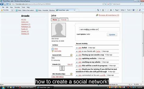 How To Create A Social Network Site! Youtube