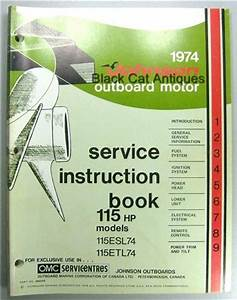 1974 Omc Johnson Outboard Motor Service Instruction Manual