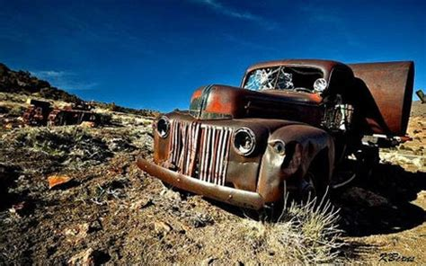 16 Abandoned Cars, Trucks, Buses, Tanks, Roads & Paths
