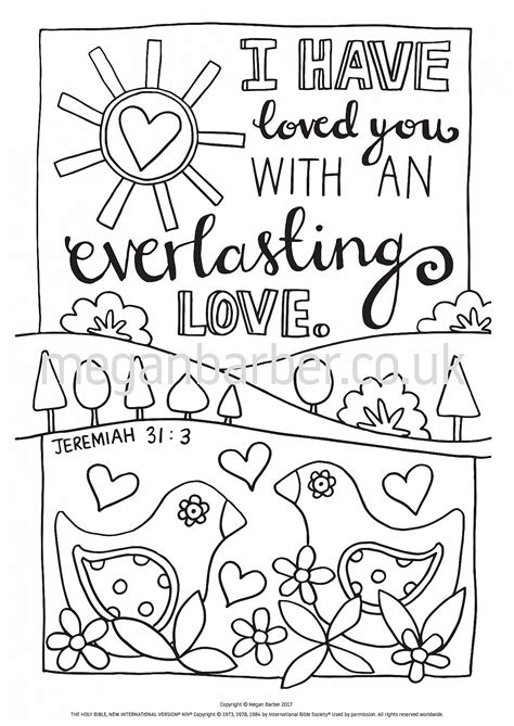 colouring sheet featuring  simple typographic