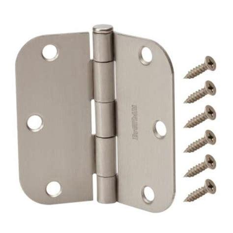 everbilt 3 1 2 in x 5 8 in radius satin nickel door