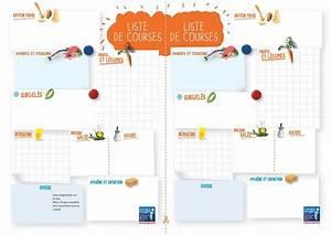 Listes De Courses : la liste de courses id ale imprimer format pdf fichier ~ Nature-et-papiers.com Idées de Décoration