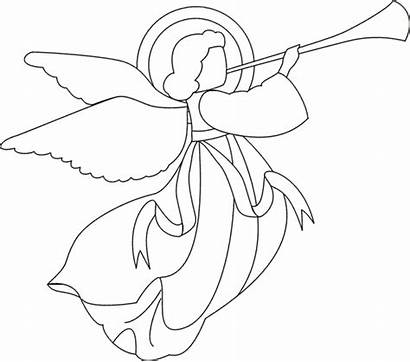 Angel Christmas Angels Drawing Coloring Simple Pages