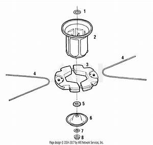 Mtd 25a Mower  1998  Parts Diagram For Trim Head Assembly