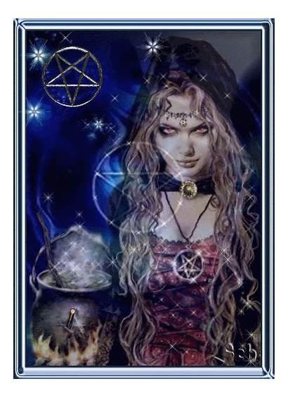 Witch Animated Glittery Bruja Infinito Noviembre Misterioso