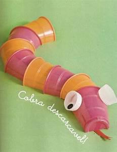 Animais feitos com copos descartáveis Pra Gente Miúda