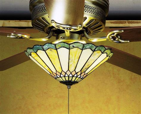 adding light fixture to ceiling fan stained glass ceiling fan light fixtures stained glass