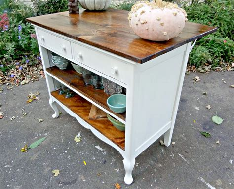 kitchen island made out of dresser heir and space antique dresser turned kitchen island 9413