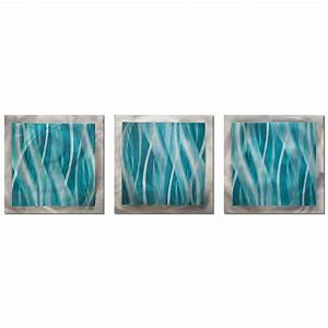 Filament design brevium 12 in x 38 in turquoise essence for Turquoise wall art