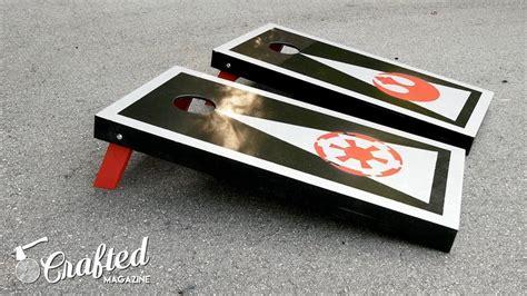 diy star wars themed cornhole boards crafted