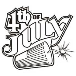 information about 4th of july clip art black and white