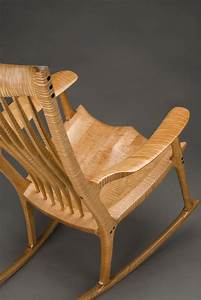 Classic Maloof Style Rocking Chair By Scott Morrison Fine