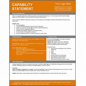 capability statement editable template targetgov With capabilities statement template